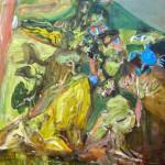 増田佳江《渡り蟹》2016 oil on canvas 530 x 455 mm