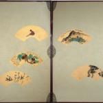関雪・契月扇面屏風