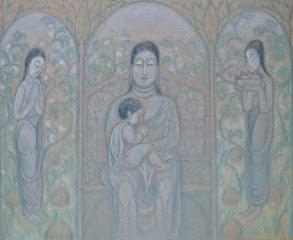 秦 テルヲの「三尊仏」
