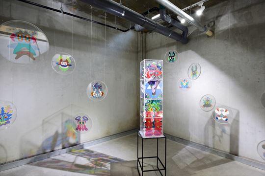 KUBOKI Kaname solo exhibition  curtain code